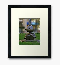 Charlie Brown & Snoopy Framed Print