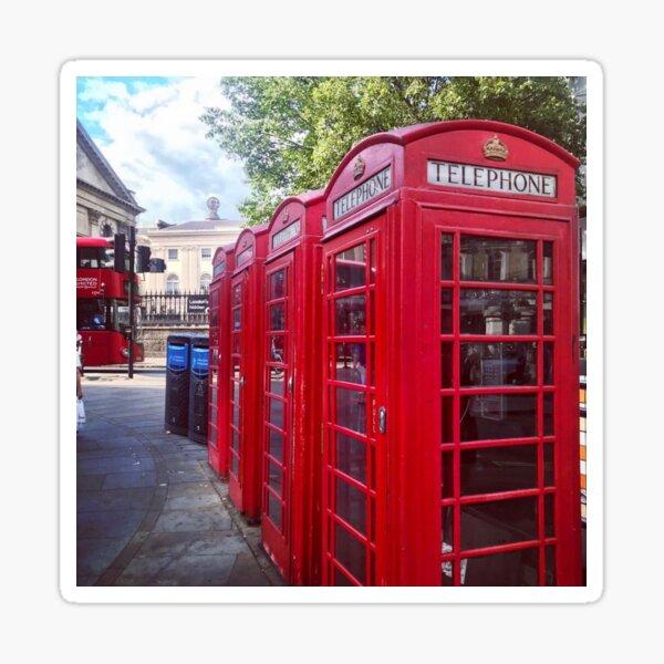 Red Telephone Box London  #35862 2 x Vinyl Stickers 10cm bw