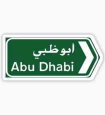 Abu Dhabi Road Sign, UAE Sticker
