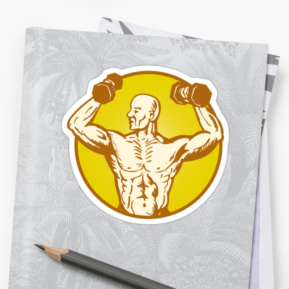 male human anatomy body builder flexing muscle by patrimonio