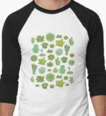 Camiseta ¾ estilo béisbol Suculentas