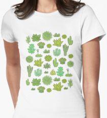 Sukkulenten Tailliertes T-Shirt