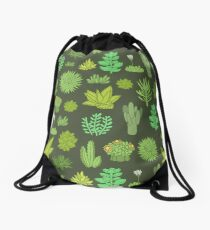 Succulents Drawstring Bag