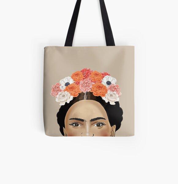 Pintura de Frida Khalo Bolsa estampada de tela