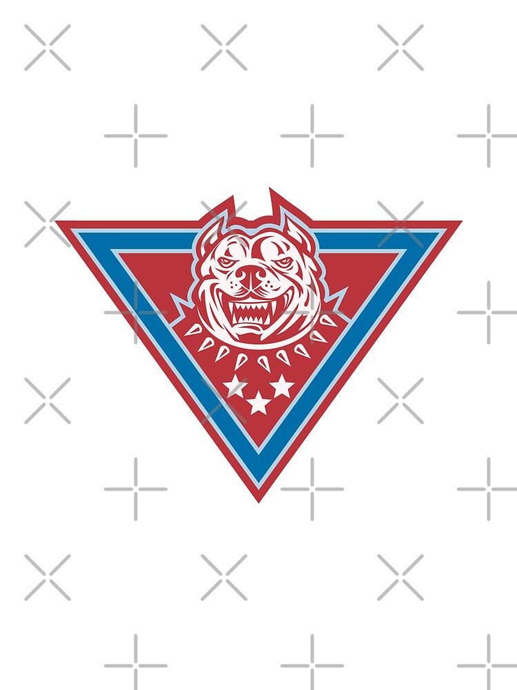 Pitbull Mongrel Dog Head Retro by patrimonio