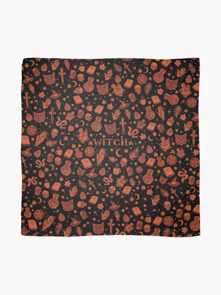 Alternate view of WITCH orange elements Scarf
