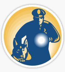 Security Guard Policeman Police Dog Sticker