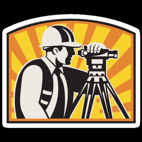 Surveyor Engineer Theodolite Total Station Retro by patrimonio