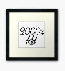 2000's kid Framed Print