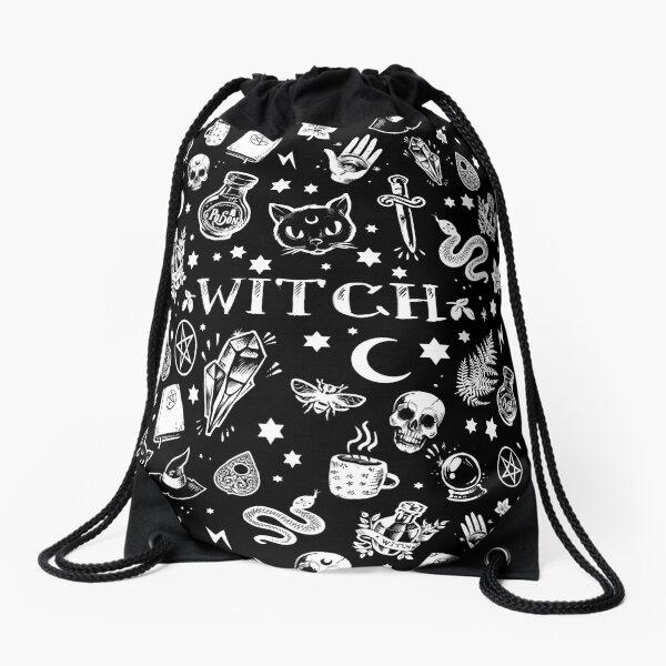WITCH PATTERN 2 Drawstring Bag