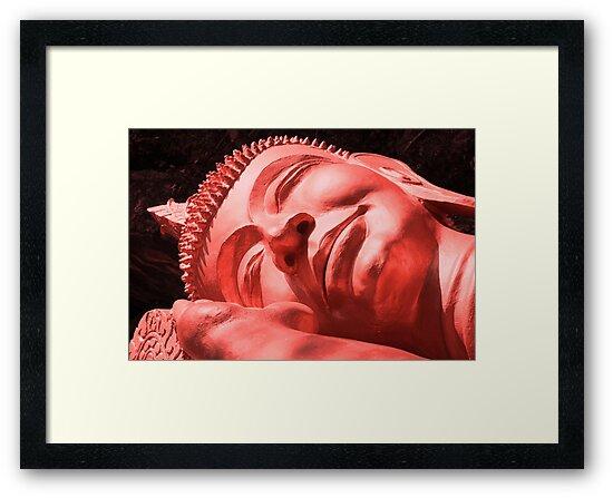 Sleeping Buddha in Red by KelseyGallery
