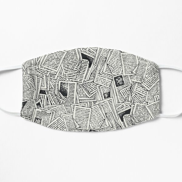 Book Pages Flat Mask