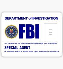 FBI - ID Greeting cards Sticker