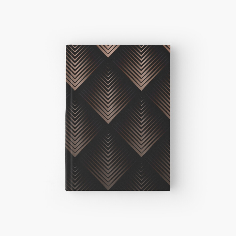 Schokoladen Bronze Dreiecke Notizbuch