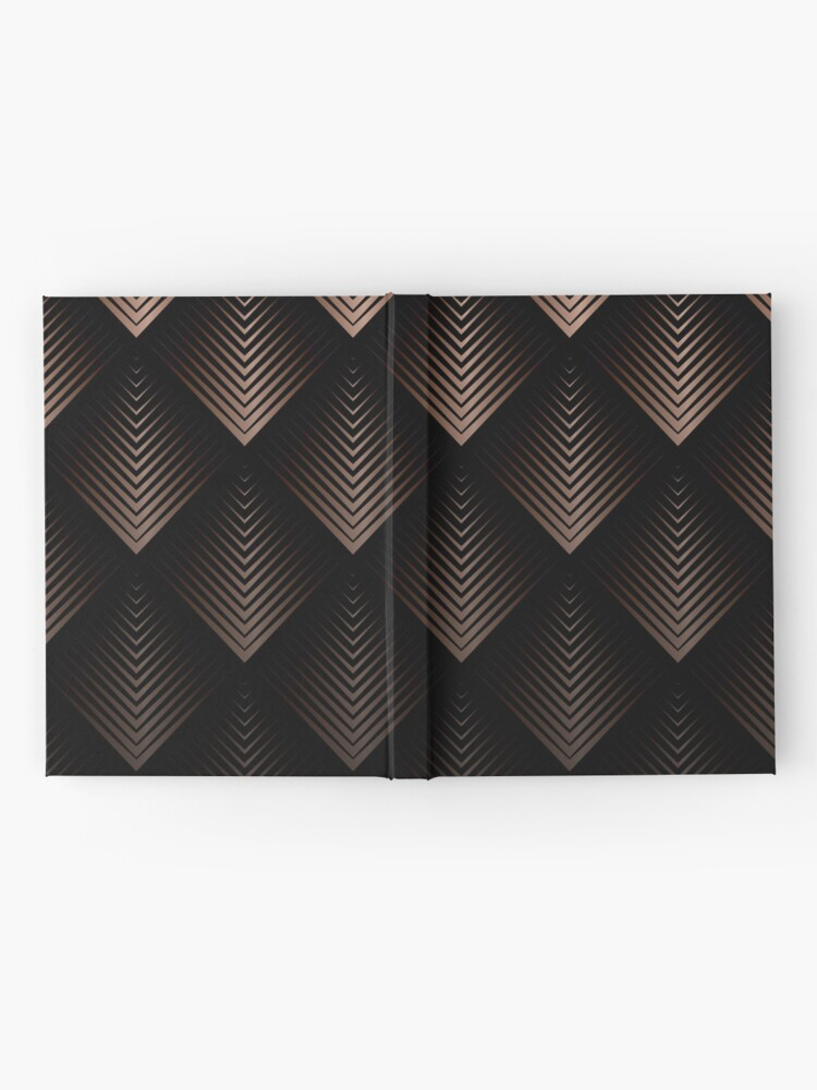 Alternative Ansicht von Schokoladen Bronze Dreiecke Notizbuch