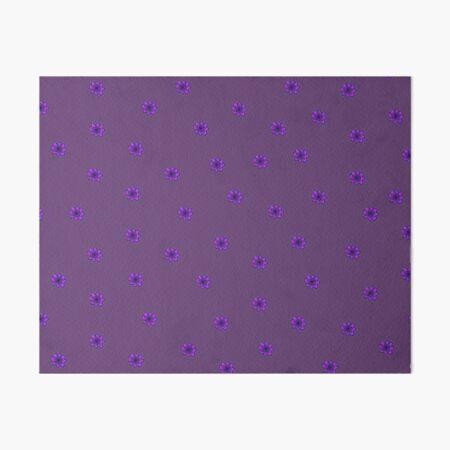 Psychedelic purple flower Art Board Print