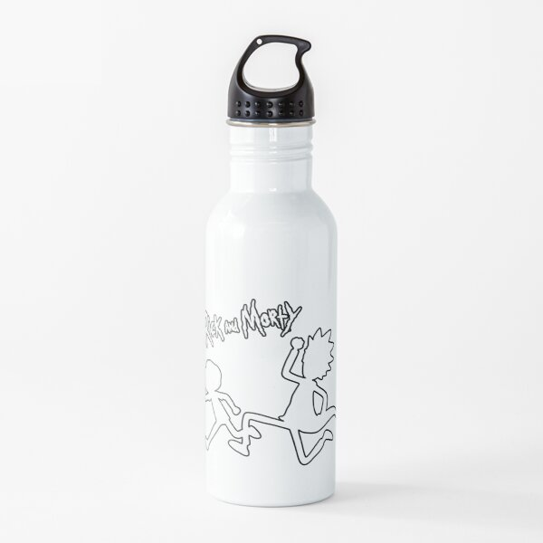 Rick and Morty black and white Water Bottle