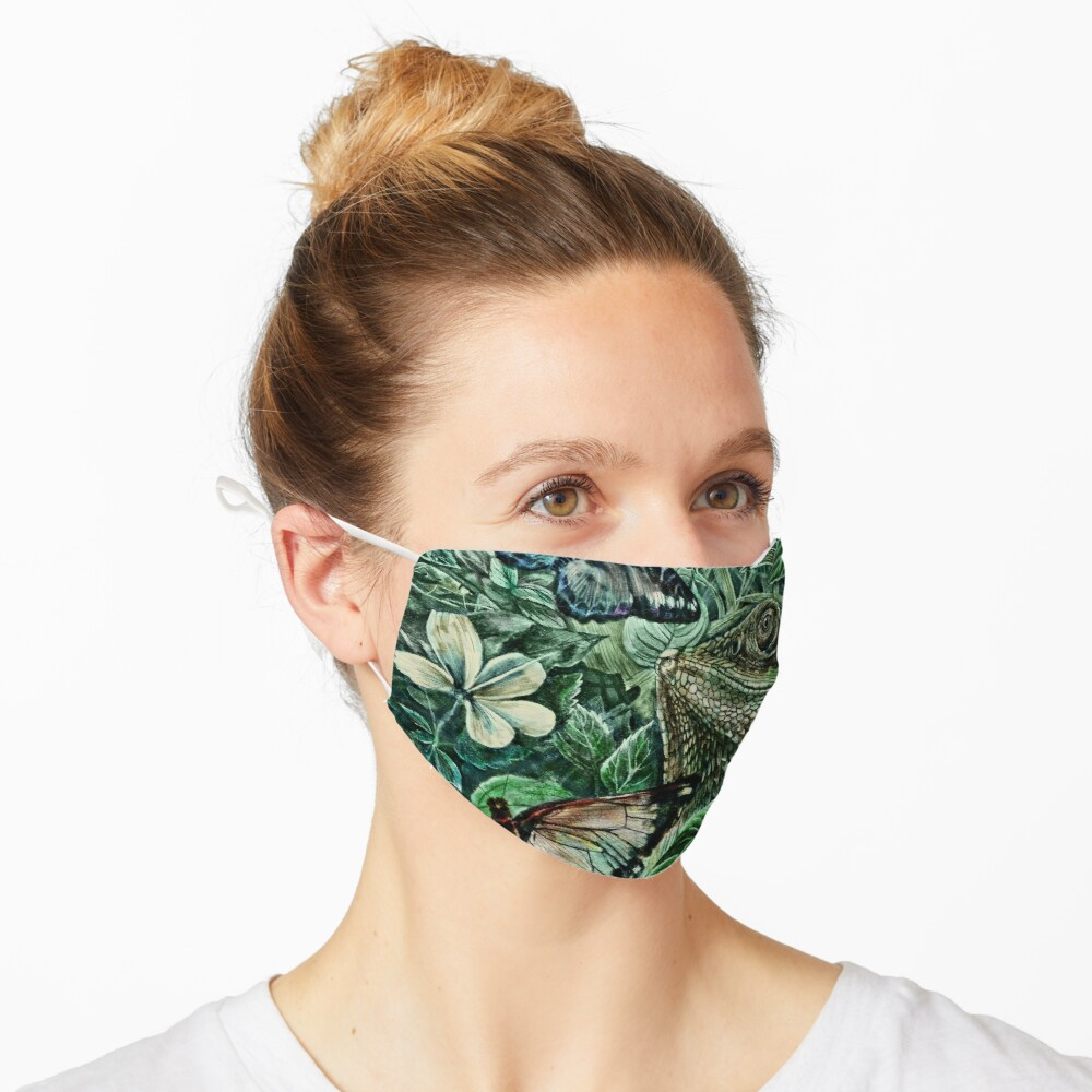 Bearded Dragon and Butterflies - Colour Mask