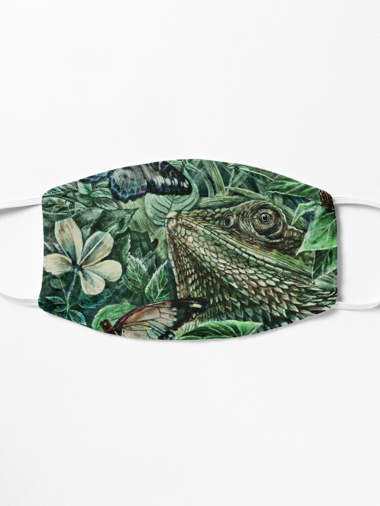 Alternate view of Bearded Dragon and Butterflies - Colour Mask