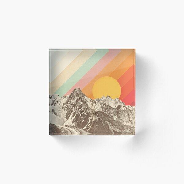 Mountainscape #1 Acrylic Block