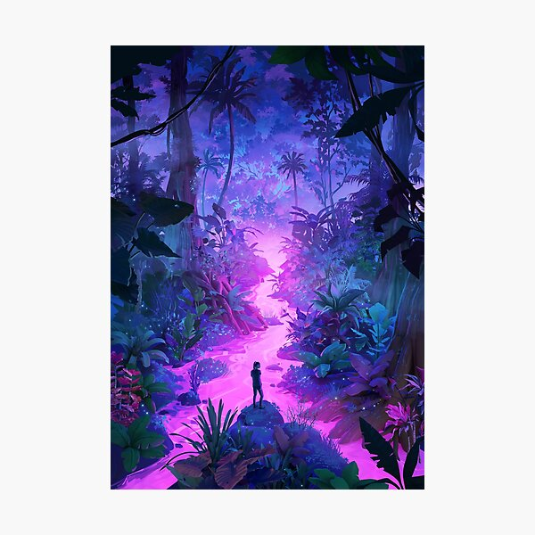 Neon Jungle Photographic Print
