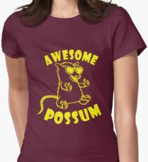 Awesome Possum Women's Fitted T-Shirt