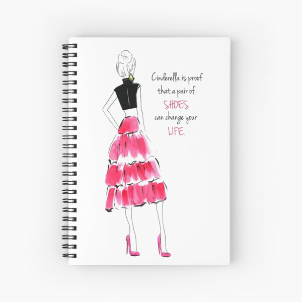 Cinderella Quote Spiral Notebook