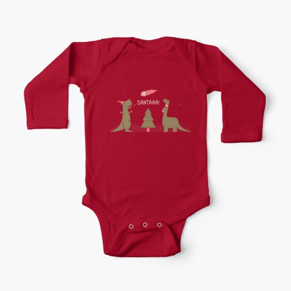 Merry Extinction Long Sleeve Baby One-Piece