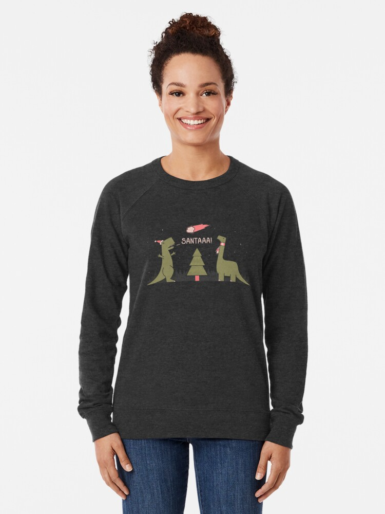 Alternate view of Merry Extinction Lightweight Sweatshirt