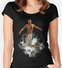 Native Merman Bursting from Water Women's Fitted Scoop T-Shirt