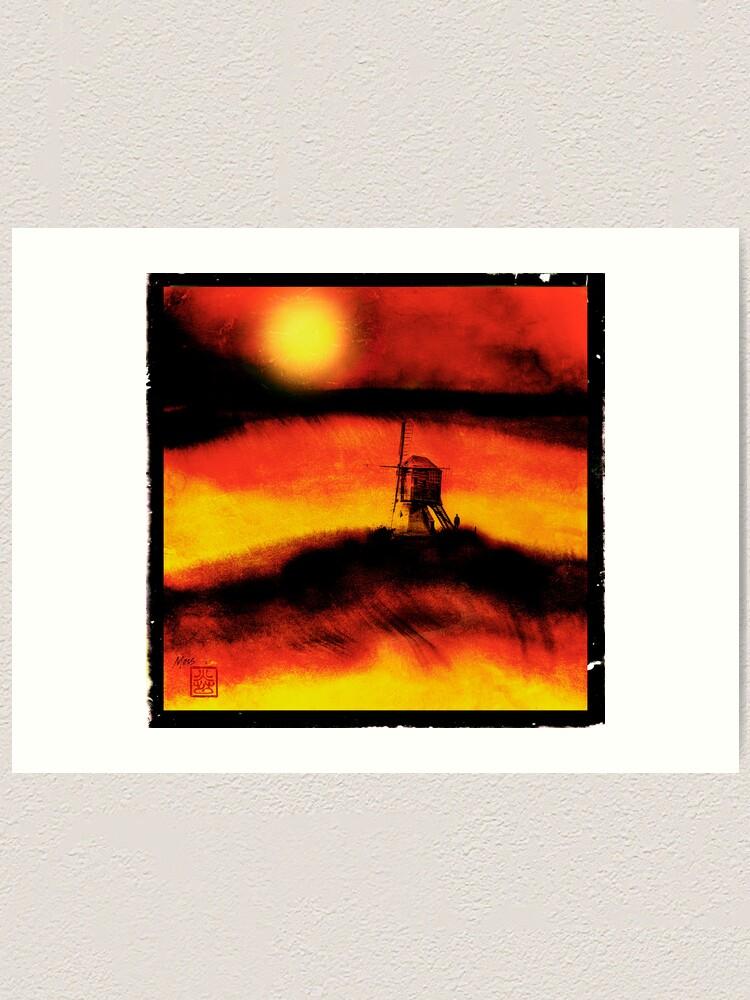 Alternate view of The Lost Windmill Art Print