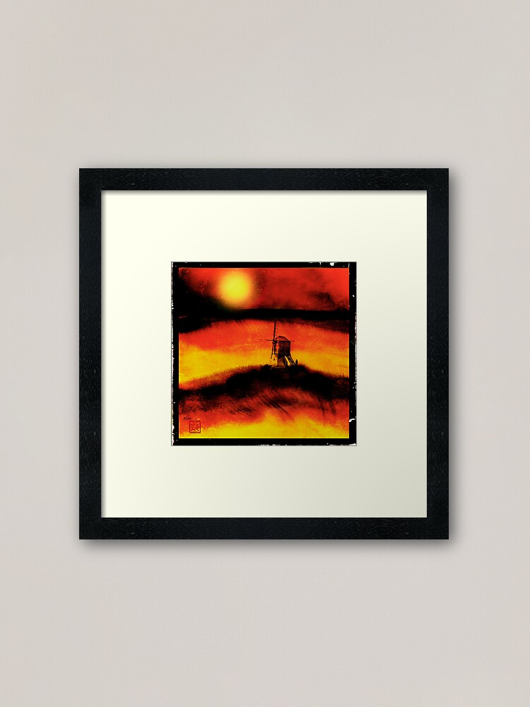 Alternate view of The Lost Windmill Framed Art Print