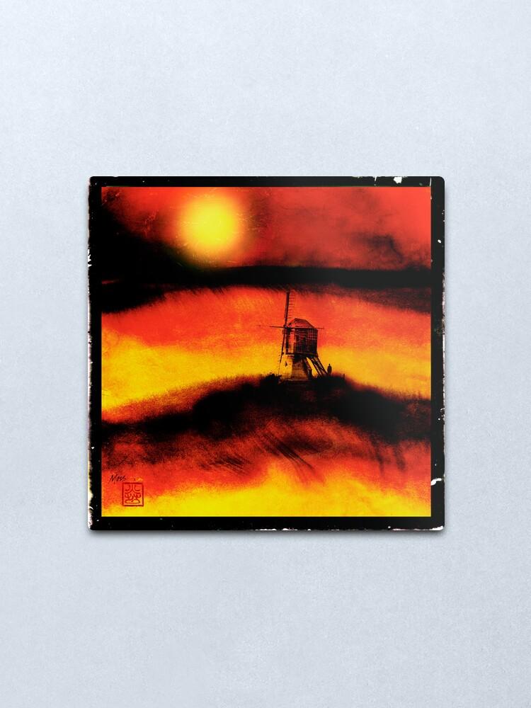 Alternate view of The Lost Windmill Metal Print