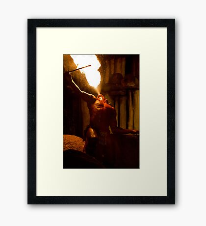 Breathing Fire Framed Print