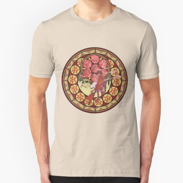 Fooly Cooly (FLCL) Stained Glass Slim Fit T-Shirt