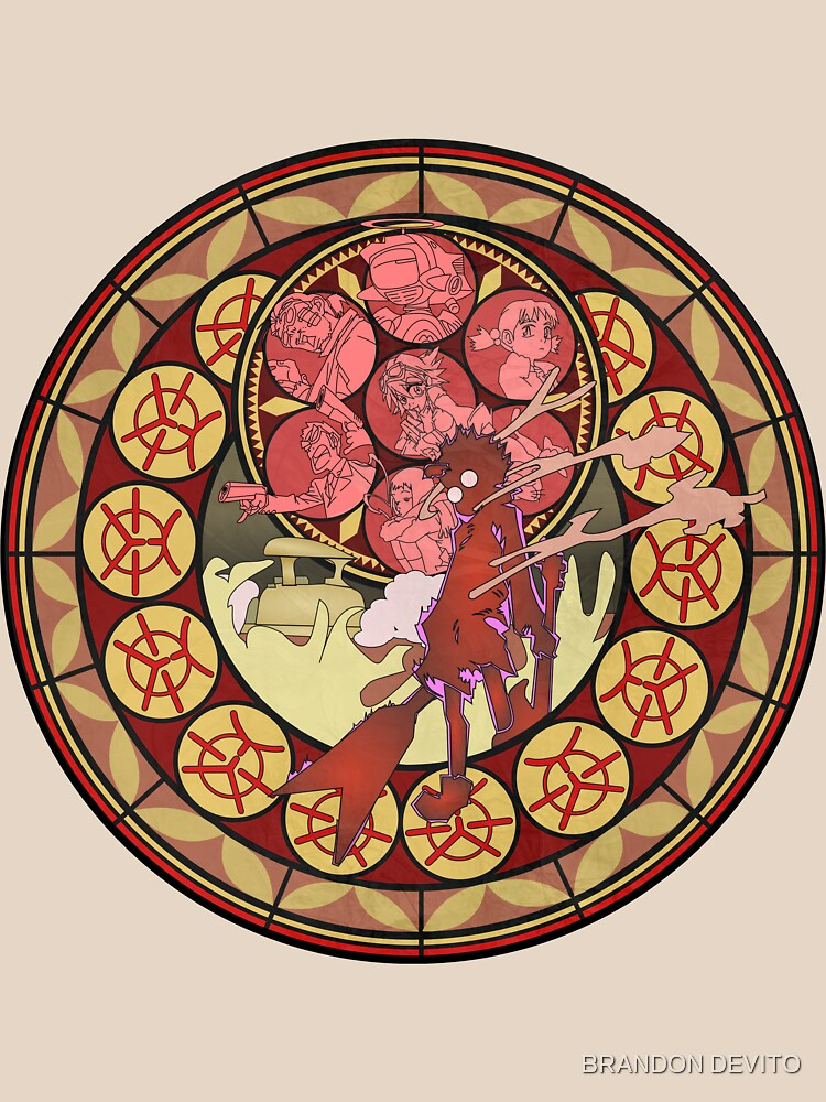 Fooly Cooly (FLCL) Stained Glass | Unisex T-Shirt