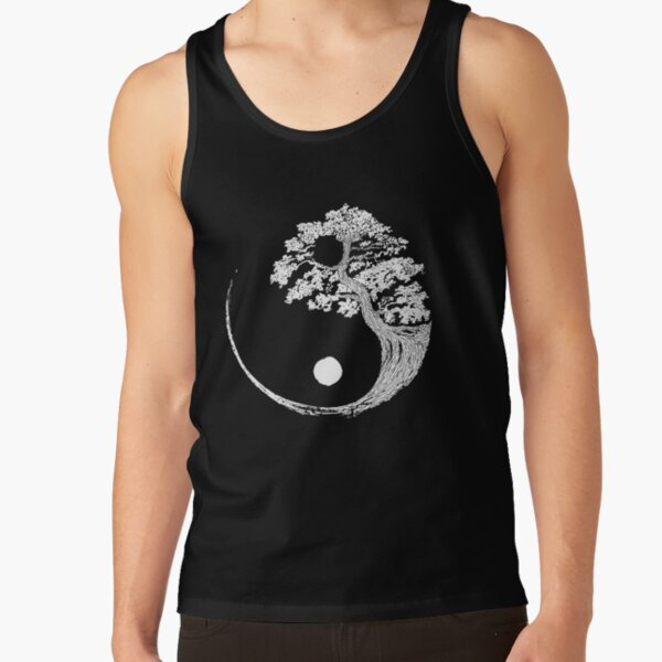 Yin Yang Bonsai Tree Japanese Buddhist Zen T-Shirt Tank Top
