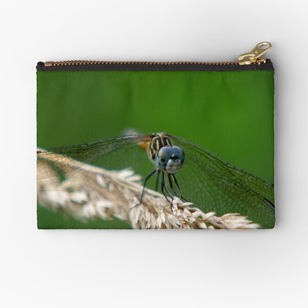 Blue Dasher Dragonfly Zipper Pouch