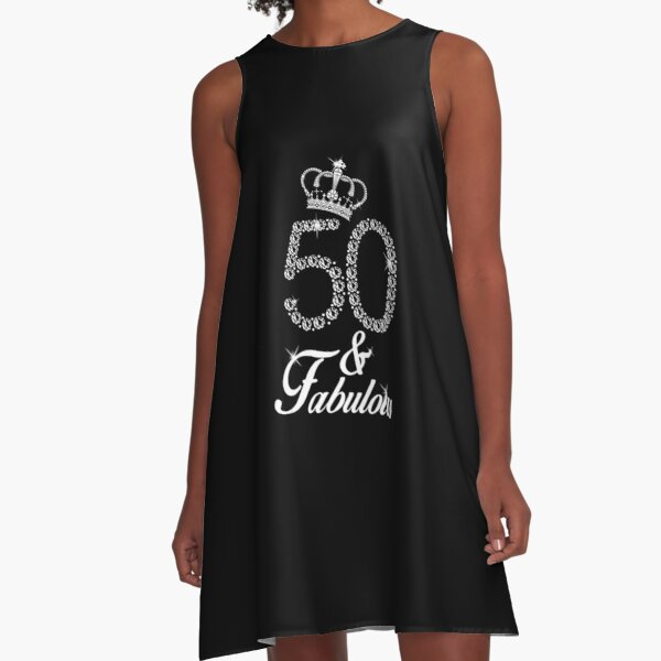 50th Birthday Gift 1969 T-shirt 50 Years Old for Women A-Line Dress