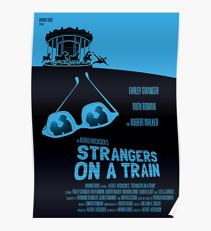 Alfred Hitchcock's Strangers On A Train Poster
