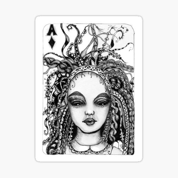Alice in tangles Sticker