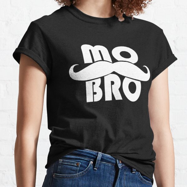 MO BRO design for the magnificent men with mustaches Classic T-Shirt