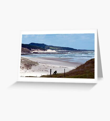 Down the beach - northland NZ Greeting Card
