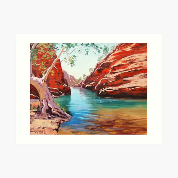 Outback Ghost Gum Art Print
