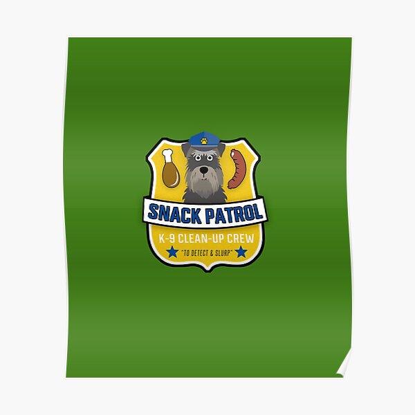 Mini Schnauzer Snack Patrol Poster