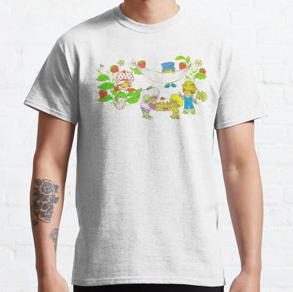 """Picnic With Strawberry & Friends"" Vintage, Card, Inspired, Retro, Strawberry, Shortcake, SSC, Apple Dumplin, Huckleberry Pie, Raspberry Tart, Blueberry Muffin, Custard, Pupcake, Strawberries    Classic T-Shirt"