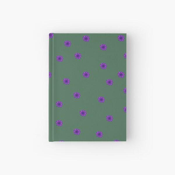 Psychedelic purple flower Hardcover Journal