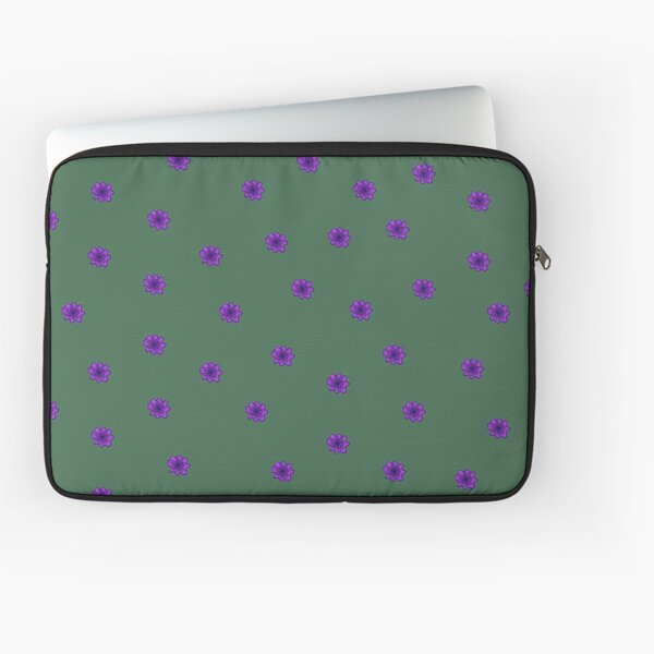 Psychedelic purple flower Laptop Sleeve