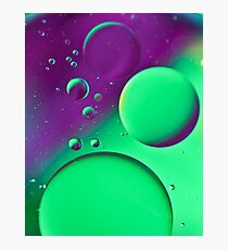 Bright Green & Purple Bubble Mix-iPhone Case Photographic Print