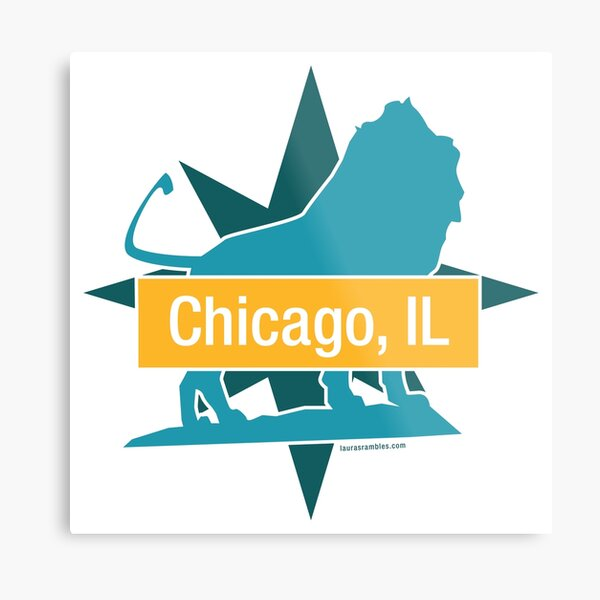 Route 66 - Art Institute of Chicago Lion Metal Print